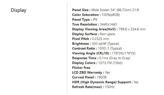 ASUS ProArt PA34VC شاشة للمصممين