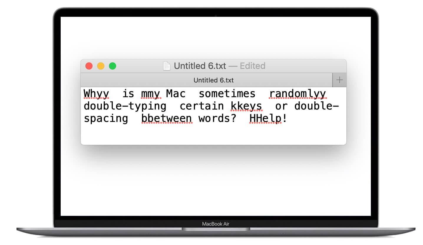 مشكلة تكرار الأحرف والمسافات في أجهزة ماك بوك