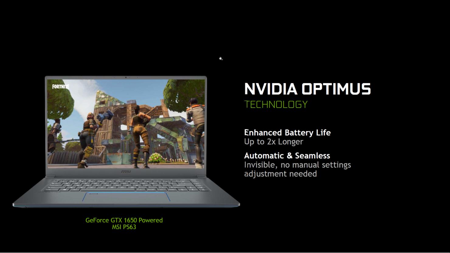 سلسلة بطاقات GeForce GTX 16 الجديدة تصل لأكثر من 80 جهاز محمول