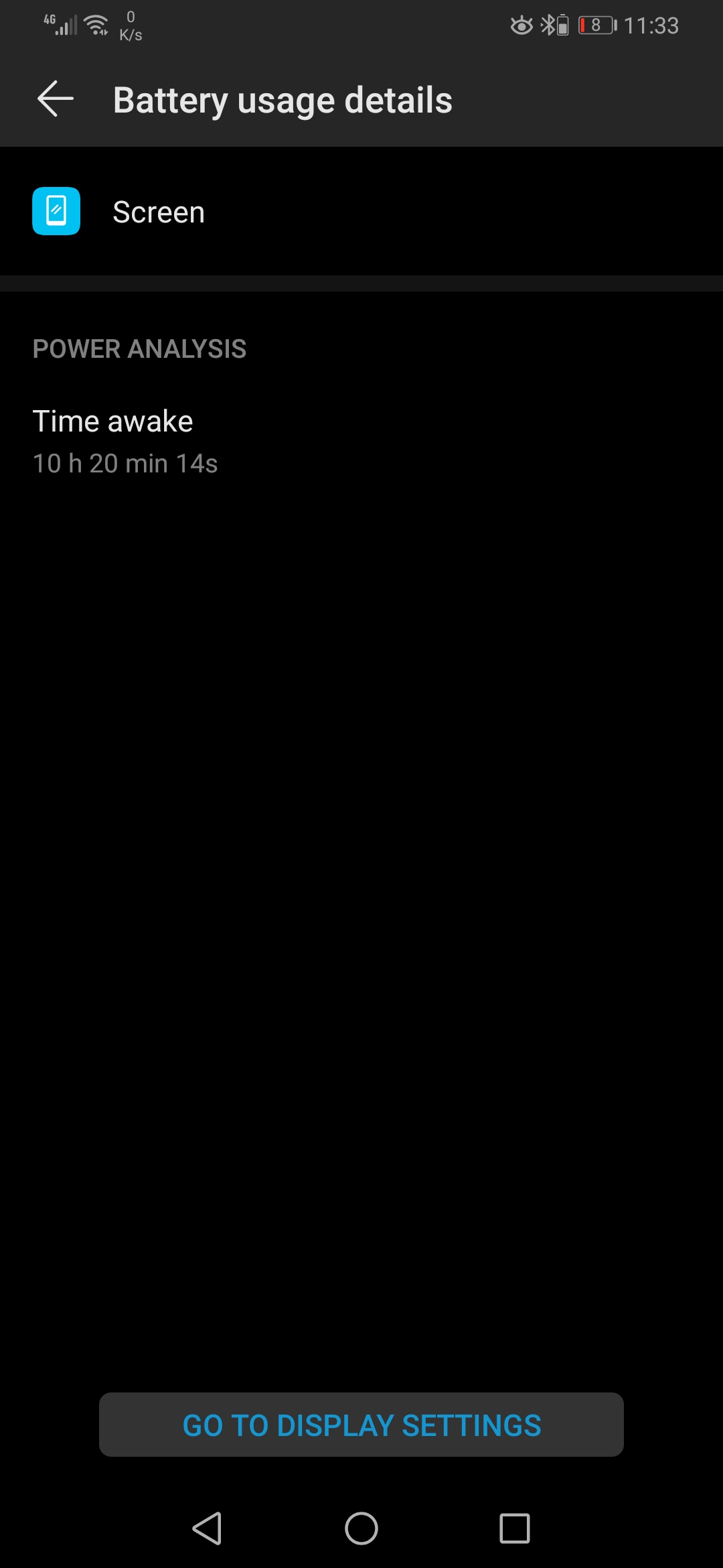 Huawei P30 Pro screen on time