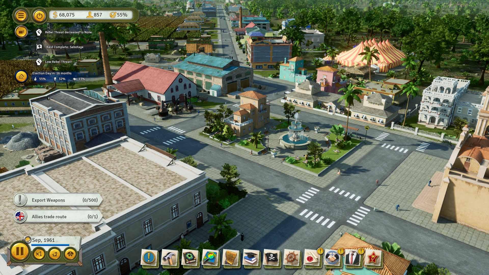 el presidente town