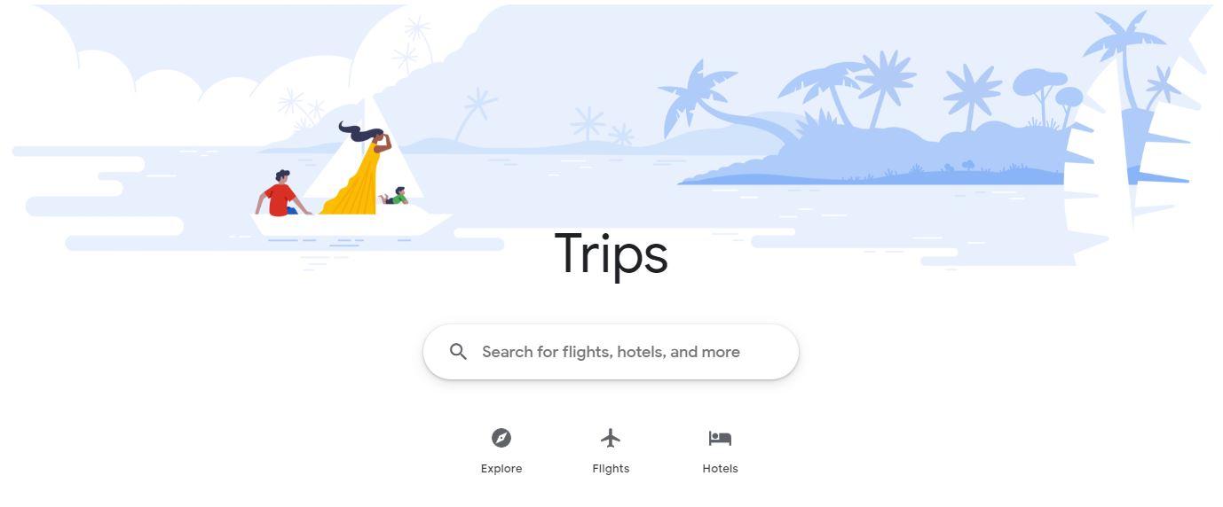 Google Trips website