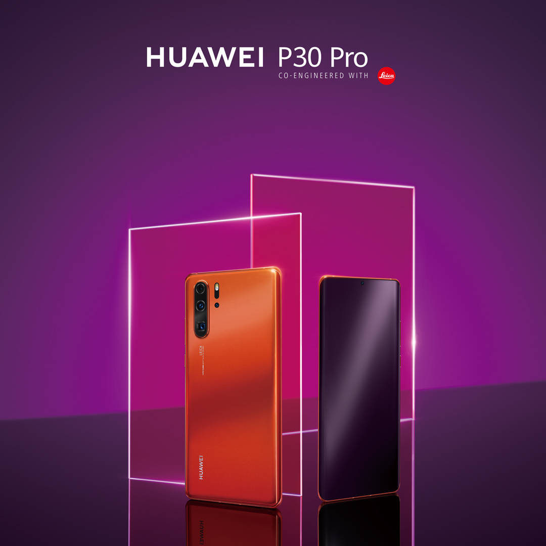 Huawei P30 Pro Amber sunrise 1080x1080 Front&Back