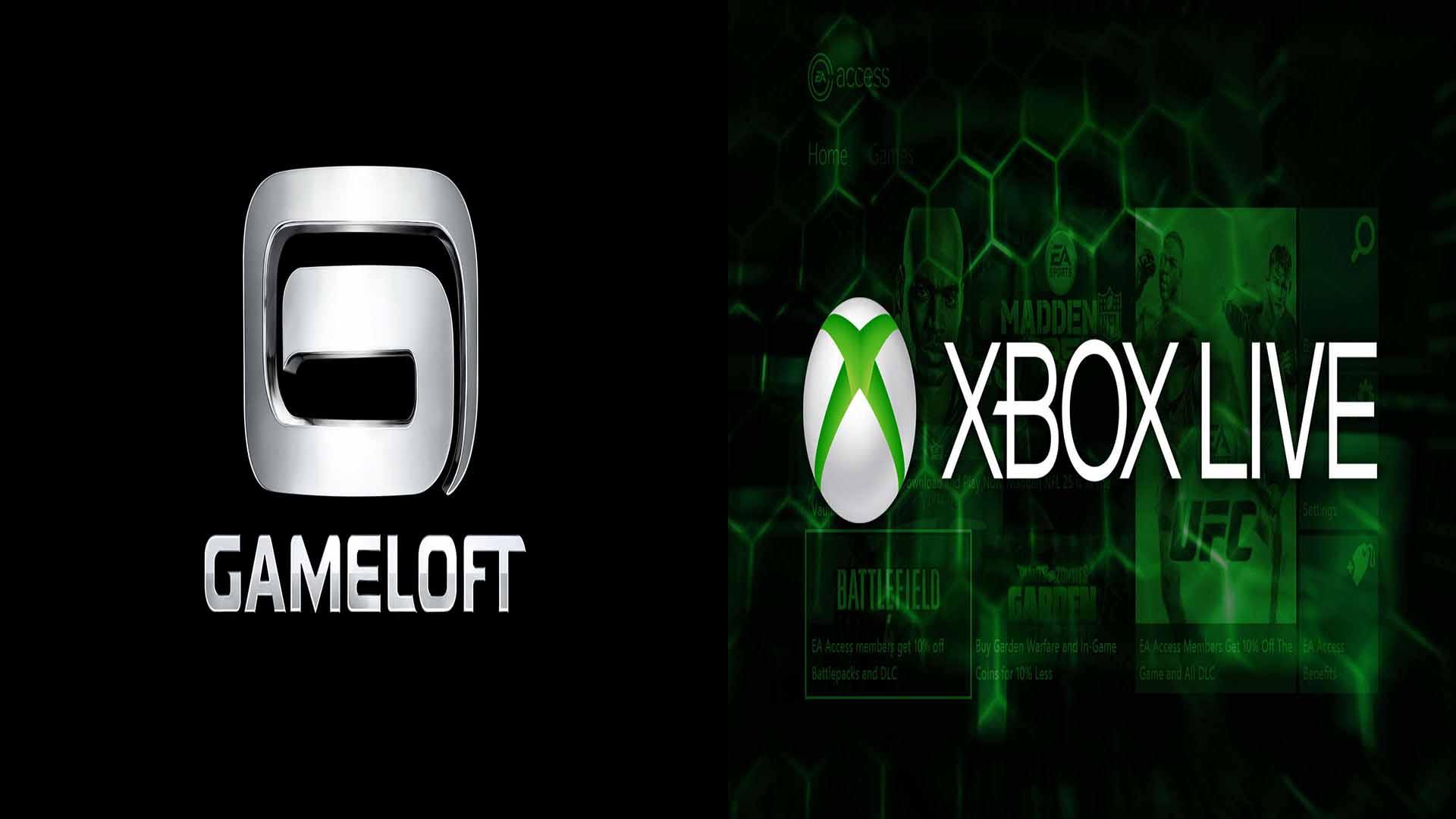 Gameloft xbox live microsoft