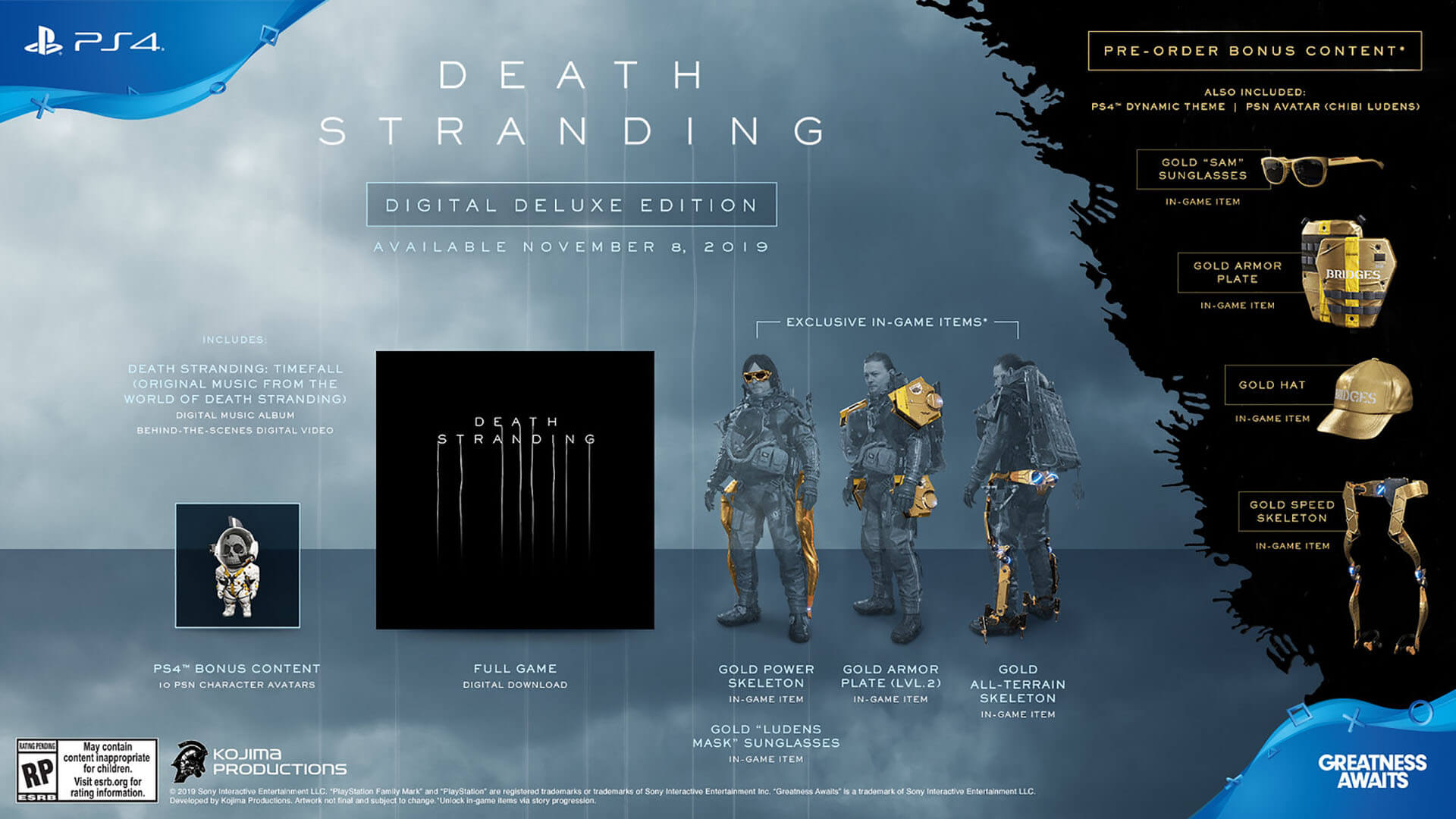 death stranding hideo kojima editions