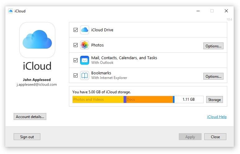 تطبيق iCloud الجديد لنظام تشغيل Windows
