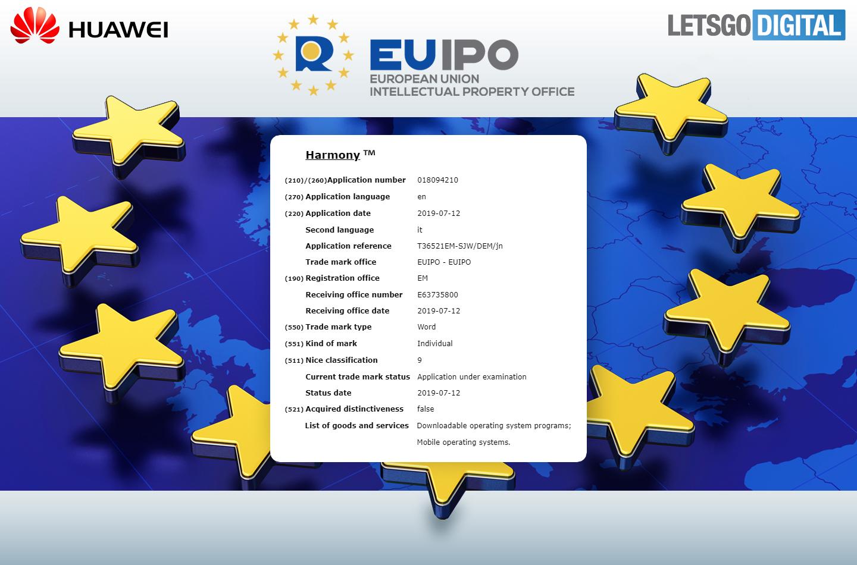 هواوي تسجل اسم نظامها الجديد في الاتحاد الأوروبي