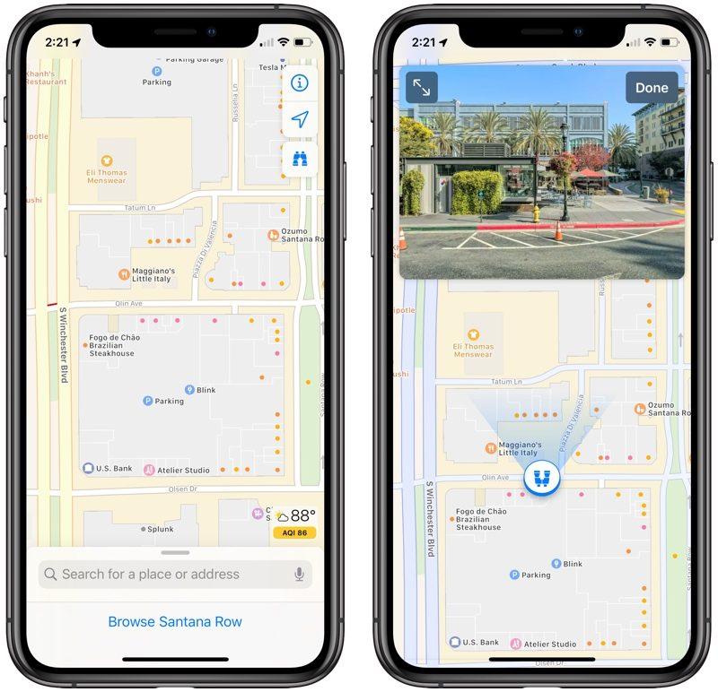 مميزات نظام iOS 13 - ميزة Look Around