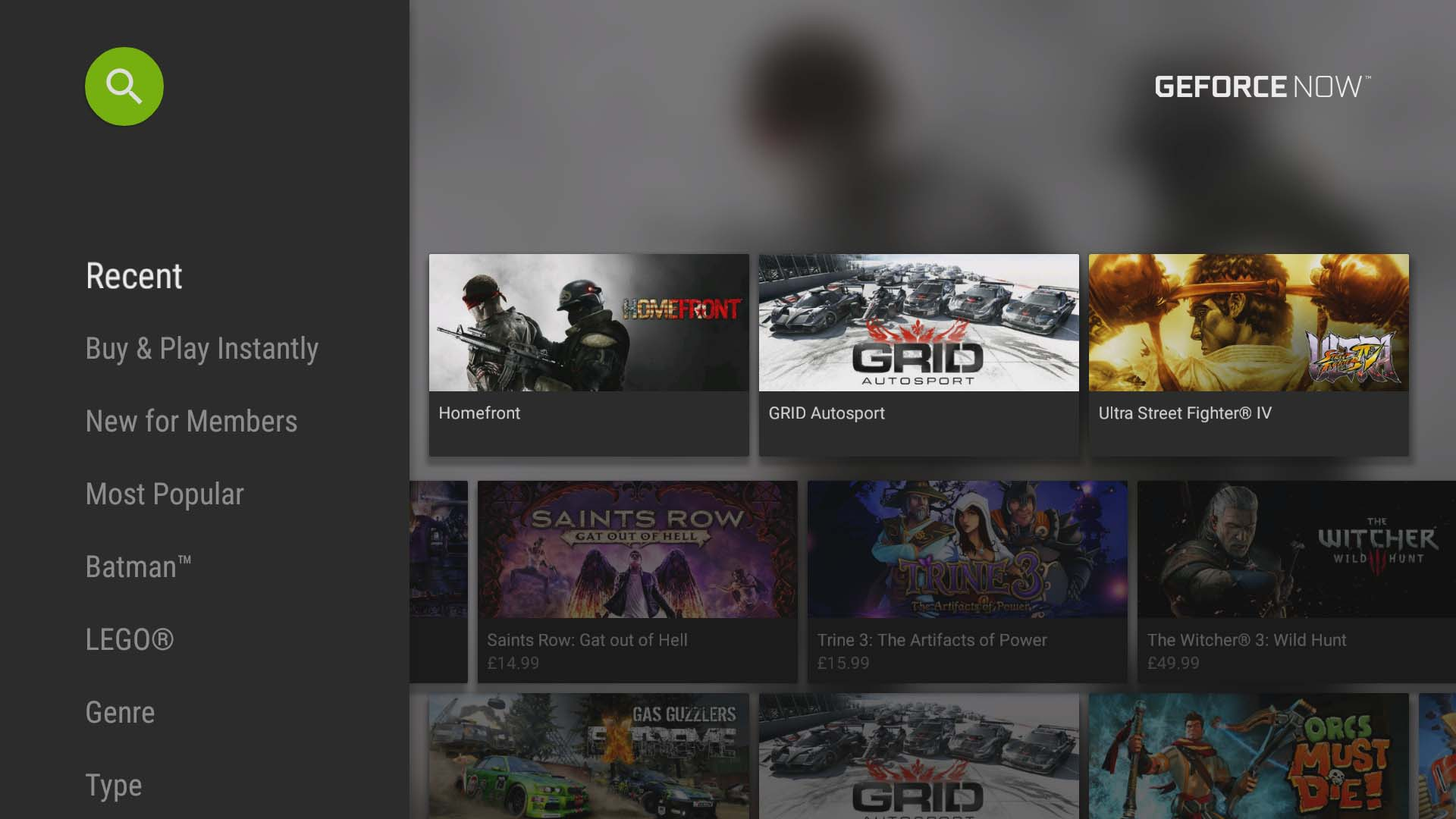 nvidia geforce now games