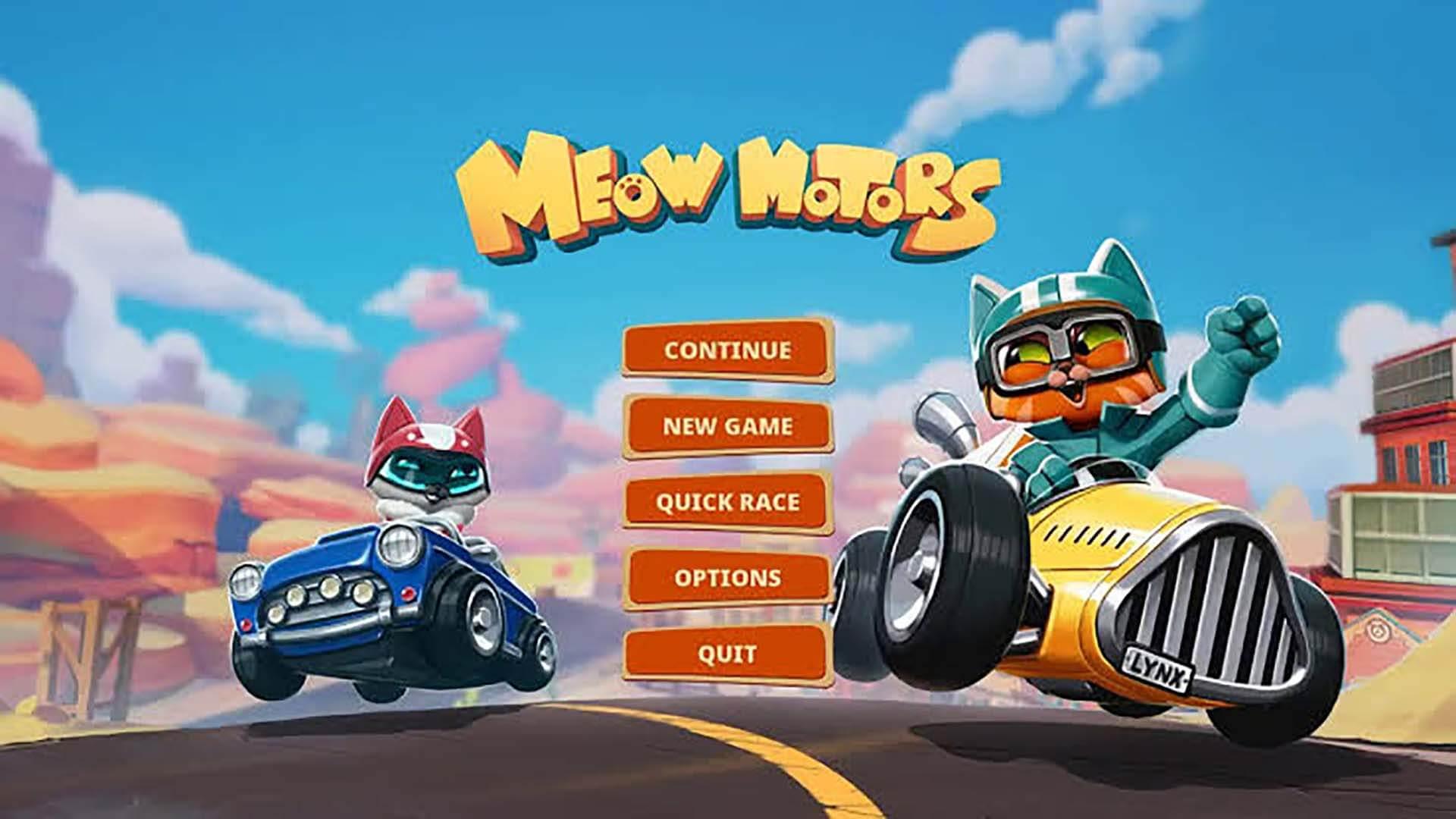 meow motors kart racing