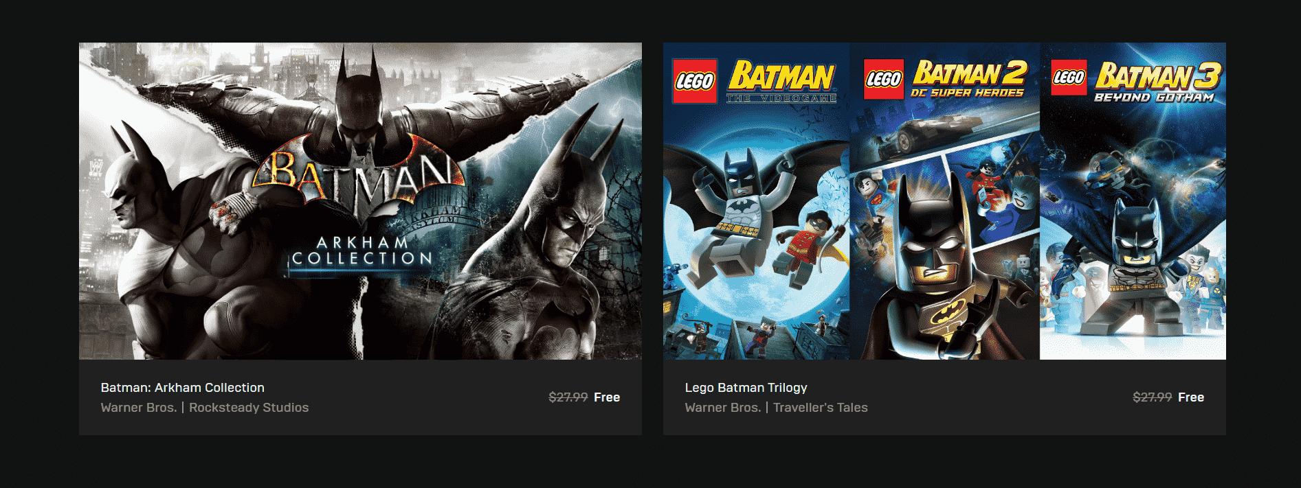 Epic Store Batman Arkham