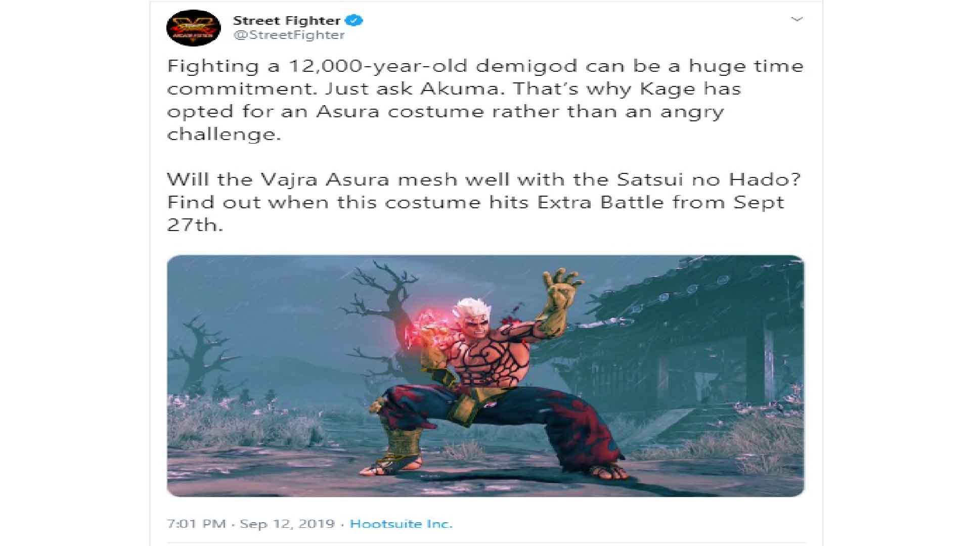 asura's wrath capcom street fighter dlc
