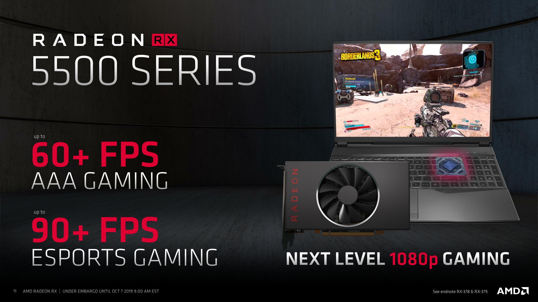 نتائج بطاقة Radeon RX 5500 تخرج للنور ، والأداء أقوى من بطاقة RX 1660 كرت شاشة شركة AMD