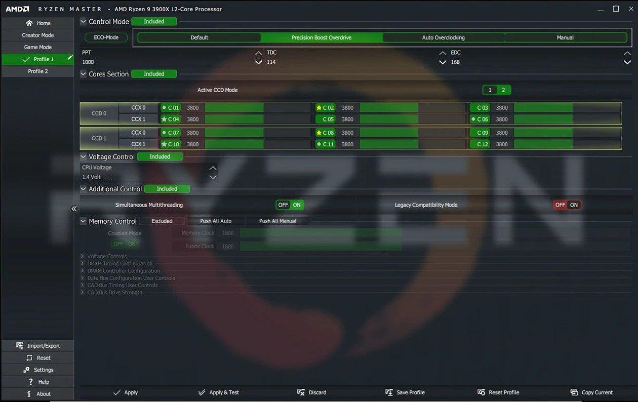 شركة AMD تؤكد أن أداة Ryzen Master تحدد النواة الأسرع بشكل سليم تماما بروسيسور معالج