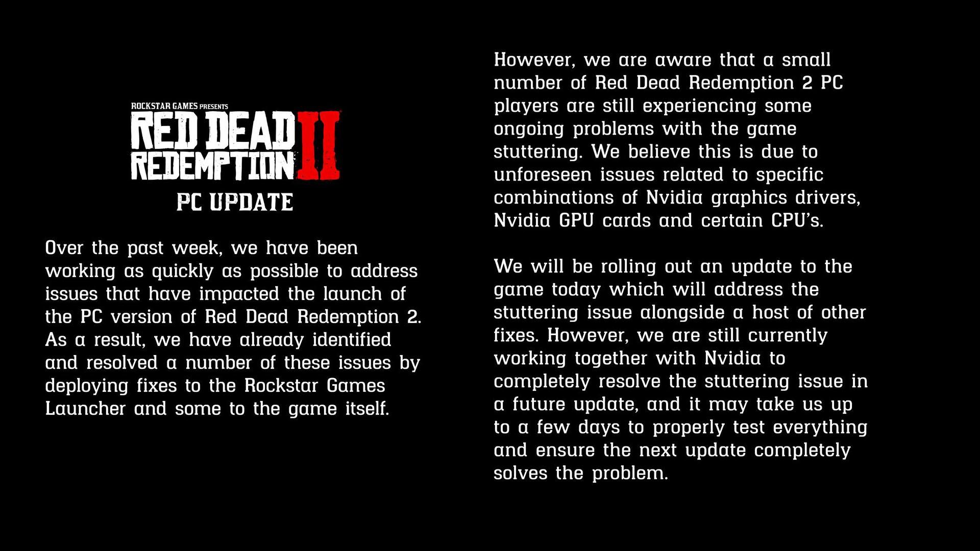 rockstar red dead redemption update