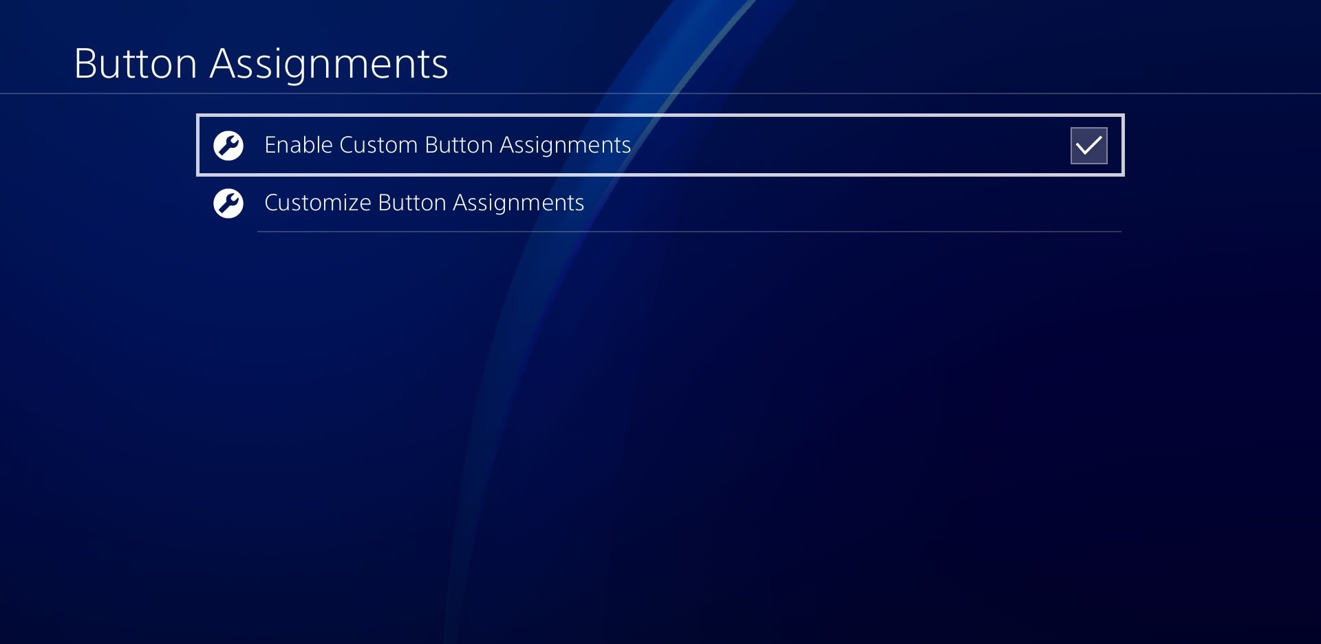 قم بتفعيل خانة Enable Custom Button Assignments