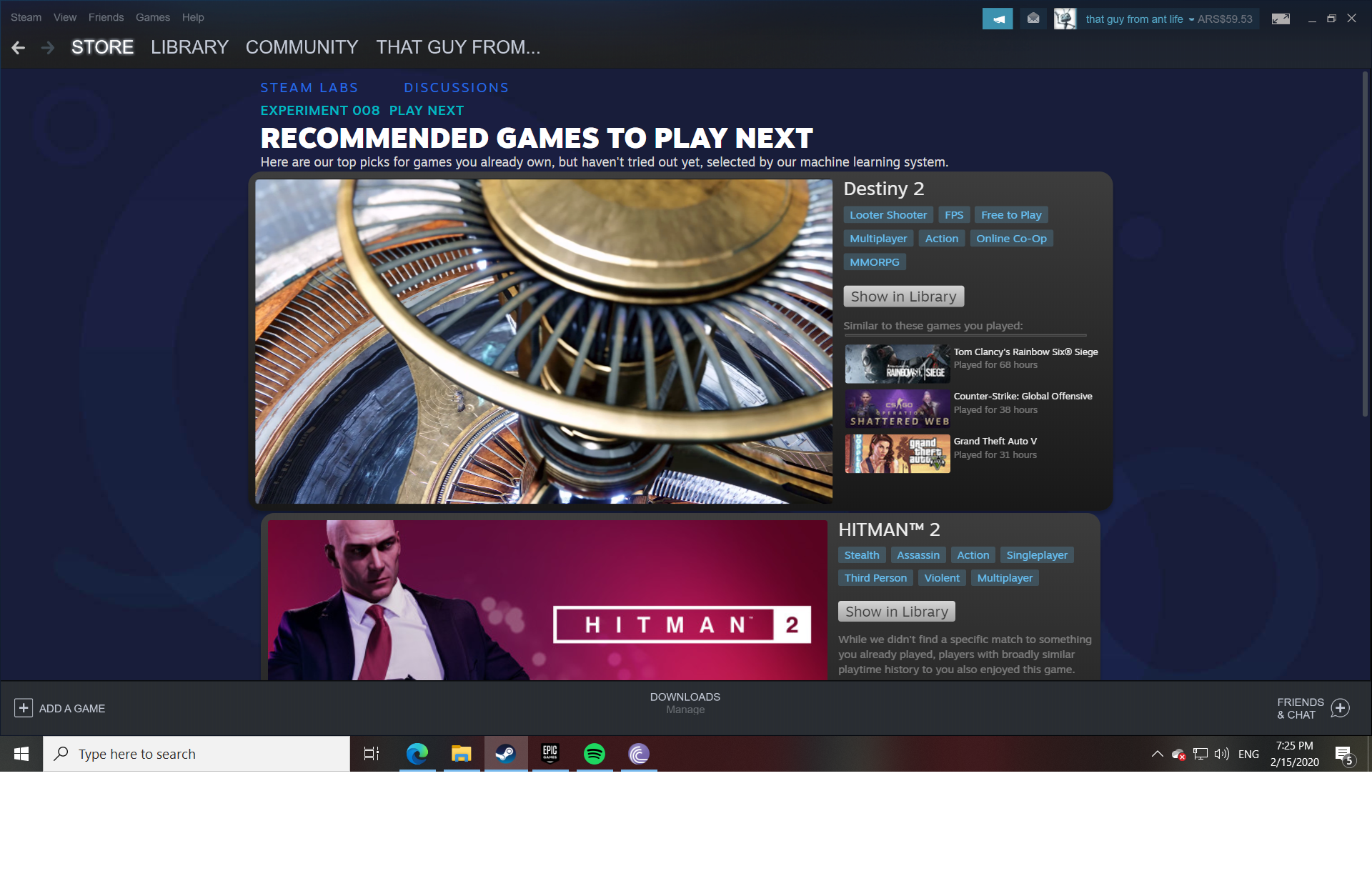 Steam Play Next