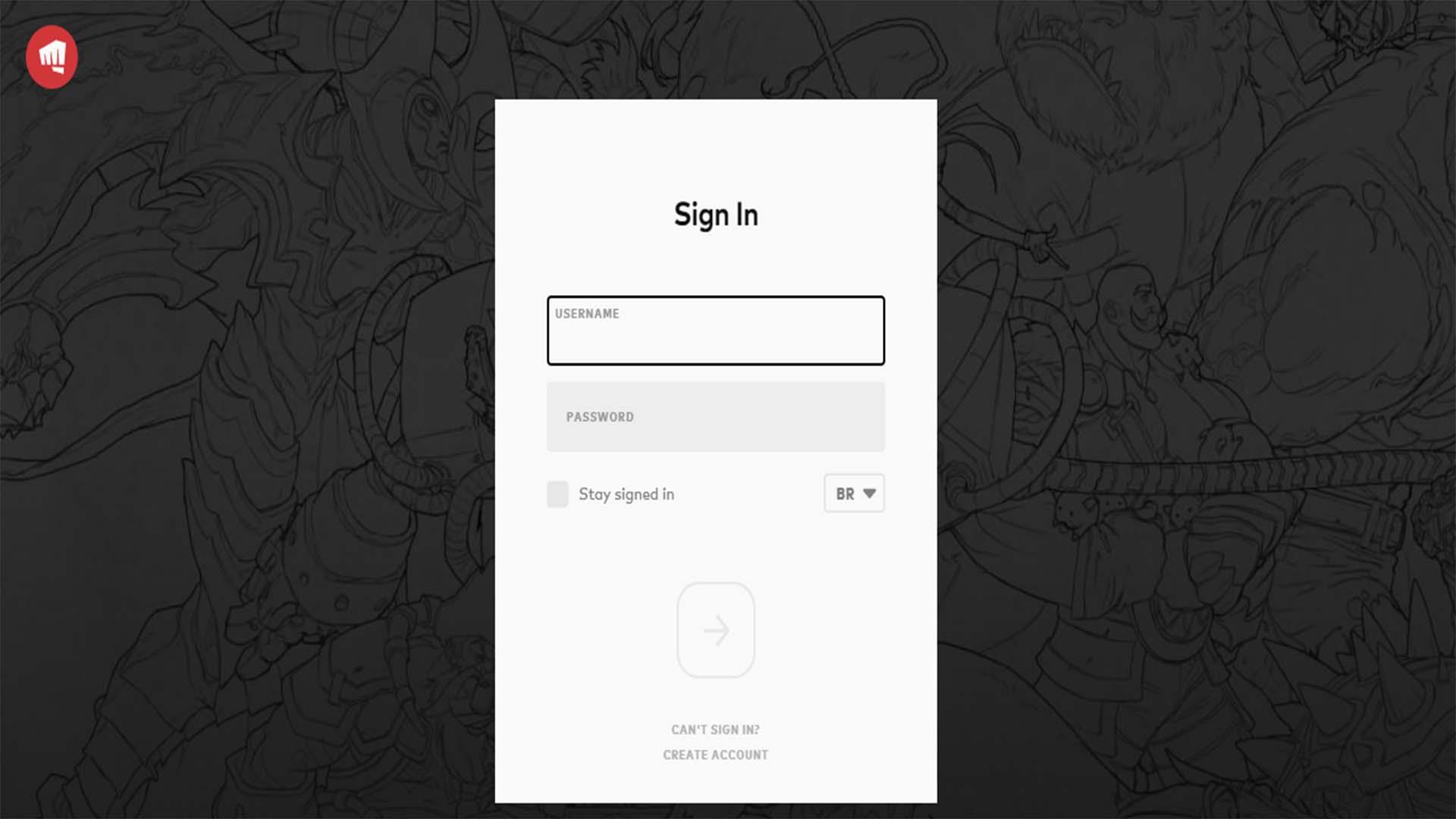 تسجيل الدخول في حساب Riot Games