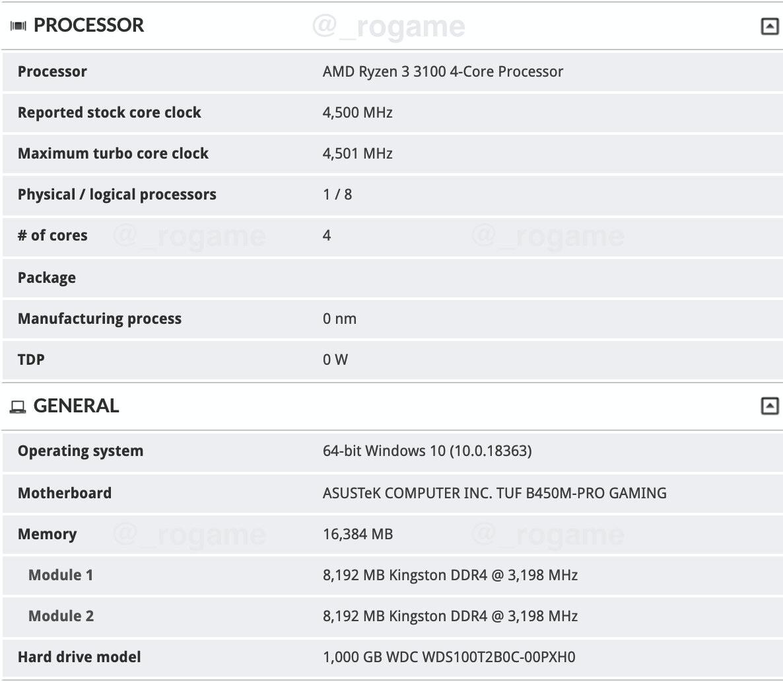 AMD Ryzen 3 3100 CPU Zen 2 بروسيسور