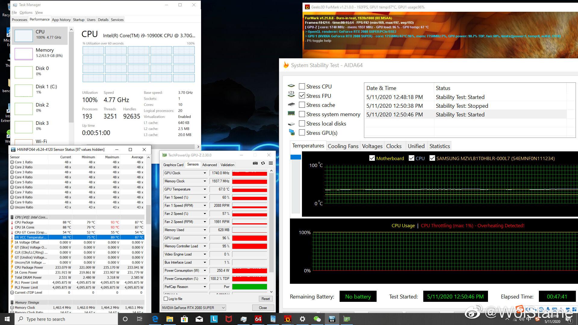 Intel Core i9-10900K CPU انتل AMD
