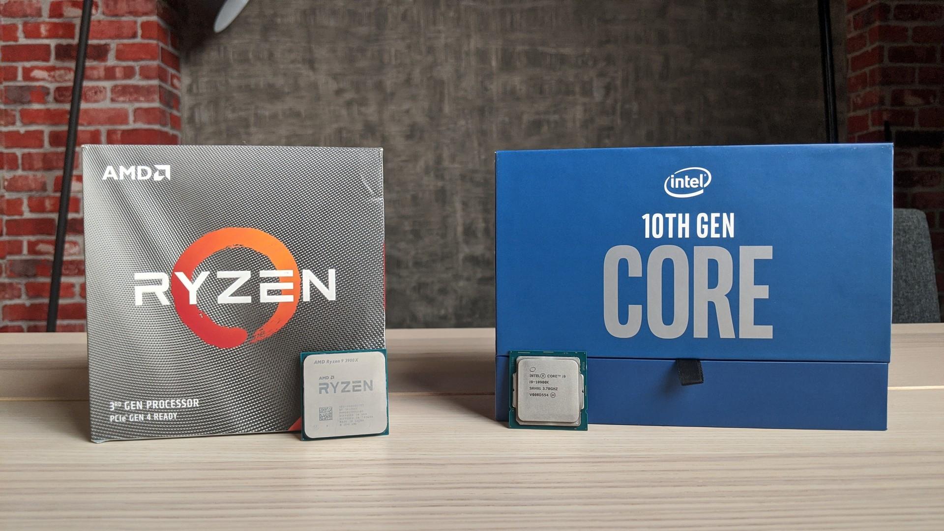 معالج المونتاج من AMD أو Intel