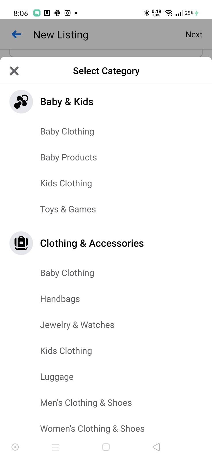 قم بإختيار فئة المنتج الذي تعرضه.