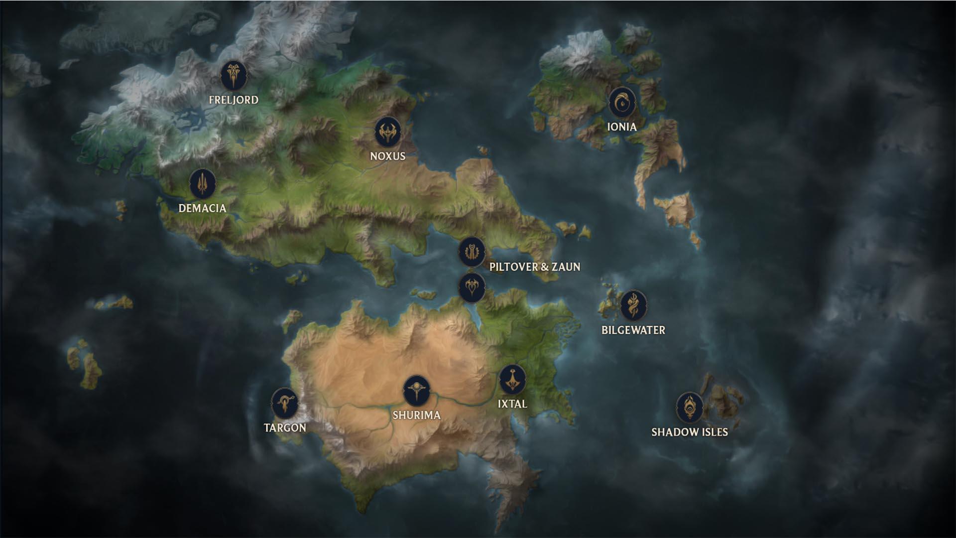 خريطة Runeterra