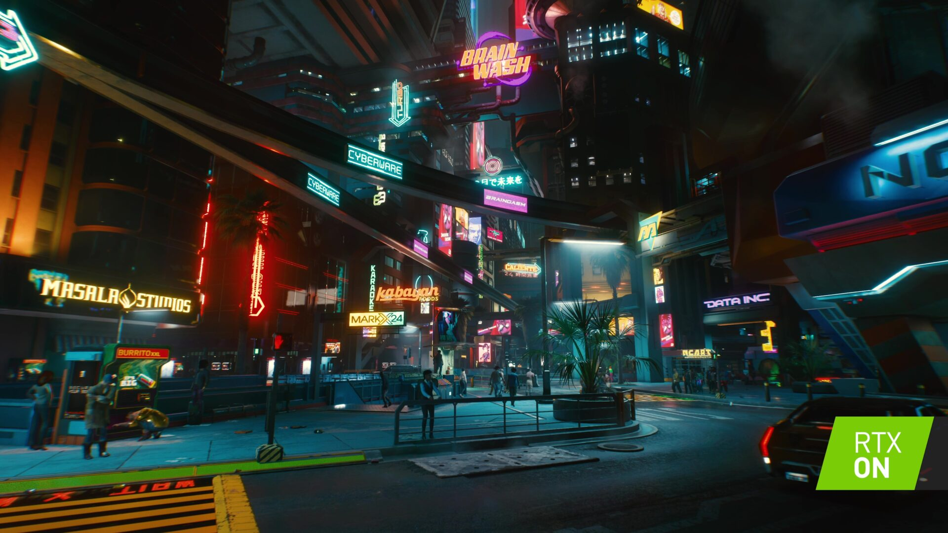 Cyberpunk 2077 NVIDIA RTX 30 DLSS تتبع الأشعة تتبع الضوء