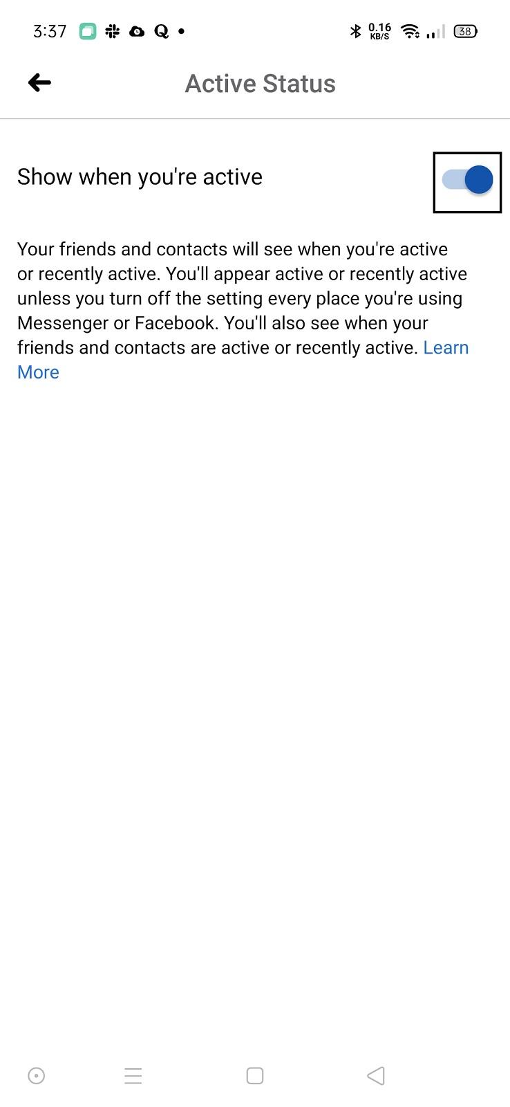 قم بتعطيل إمكانية عرض نشاطك على الفيس بوك