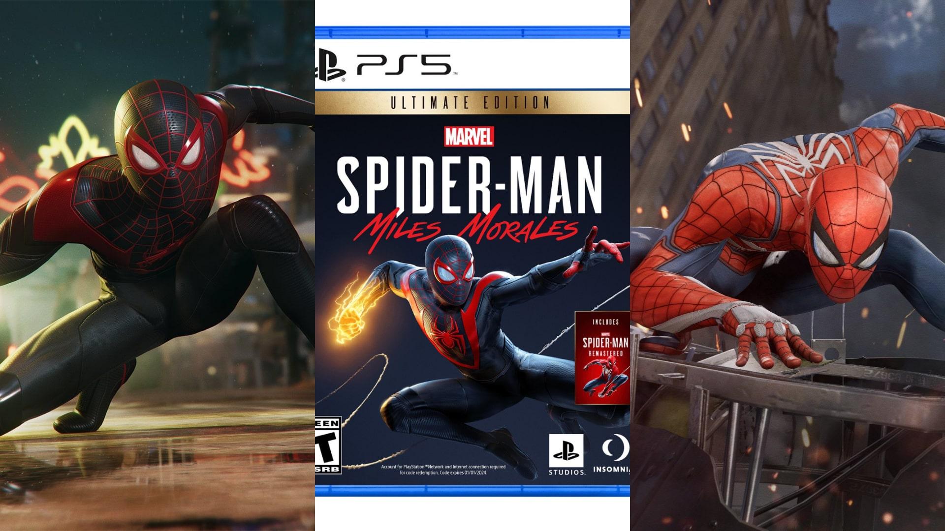 Spiderman PS4 Spiderman Miles Morales PS5 النسخة المطلقة