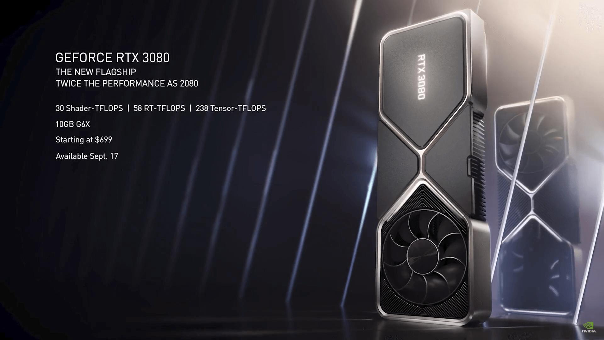 شركة NVIDIA تؤجل موعد الإفصاح اختبارات بطاقة GeForce RTX 3080 قليلاً