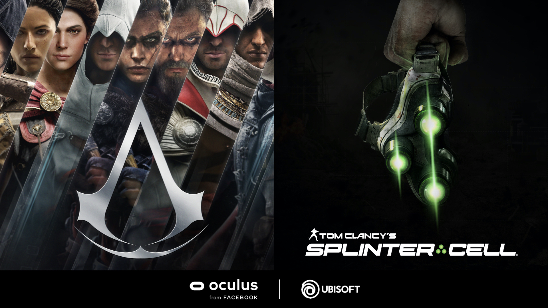 Splinter Cell Assassin's Creed Oculus Quest 2 VR Facebook Ubisoft