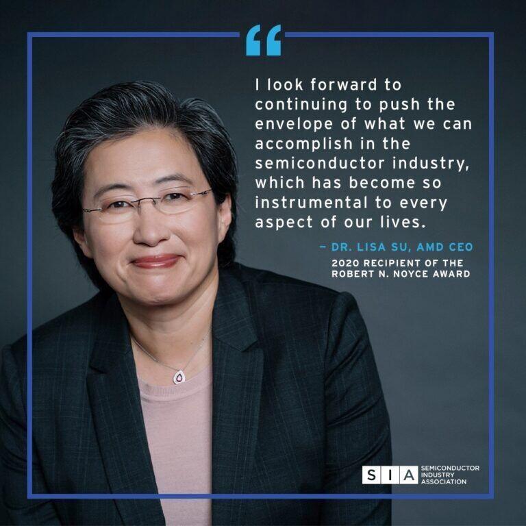 الدكتورة ليزا سو تحصل على جائزة Robert N. Noyce لعام 2020