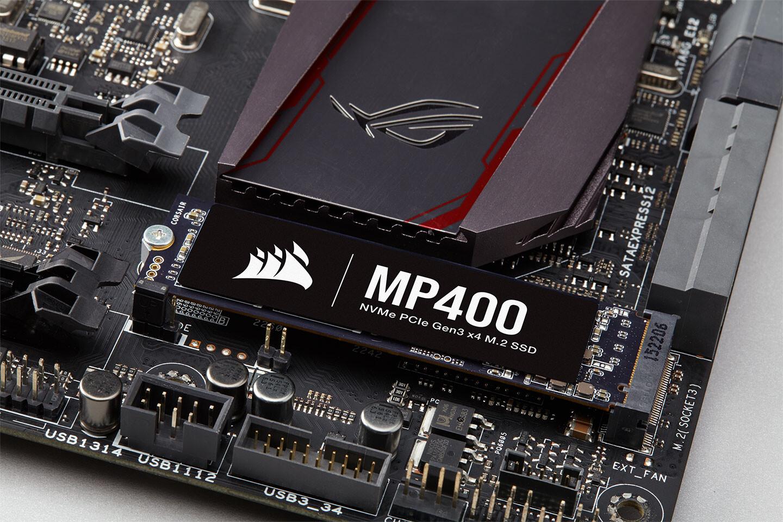 شركة CORSAIR تعلن عن وحدة التخزين MP400 من الحالة الصلبة بسعة حتى 8TB