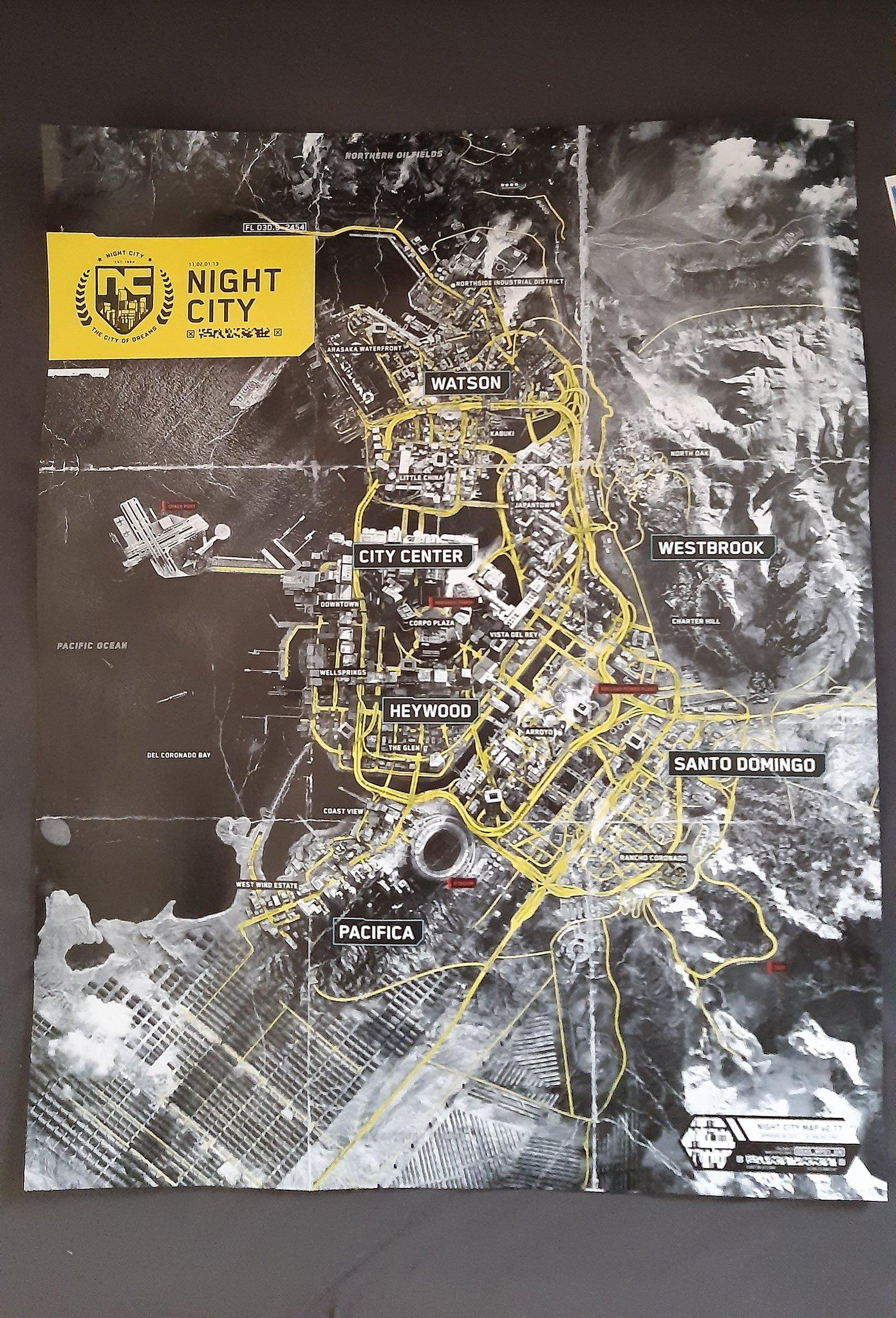 Cyberpunk 2077 CD Projekt Red خريطة