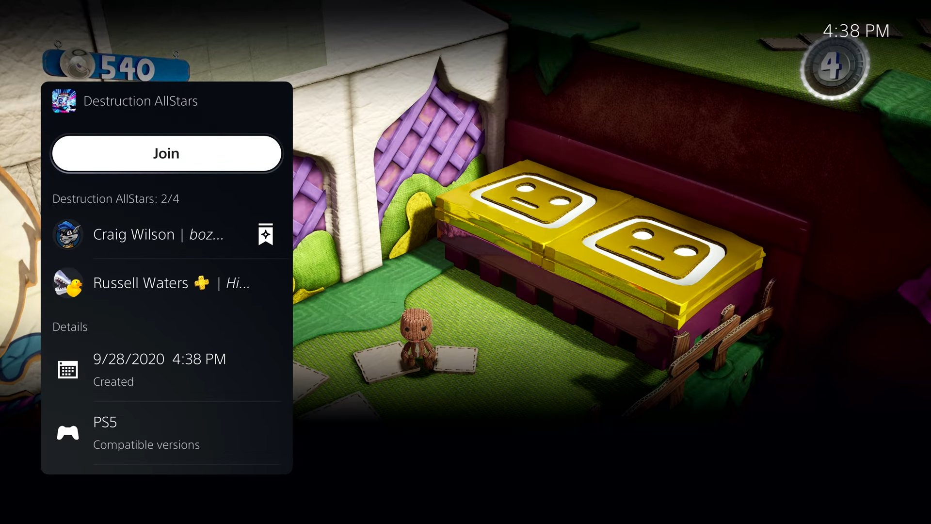 PS5 UI واجهة المستخدم PS4