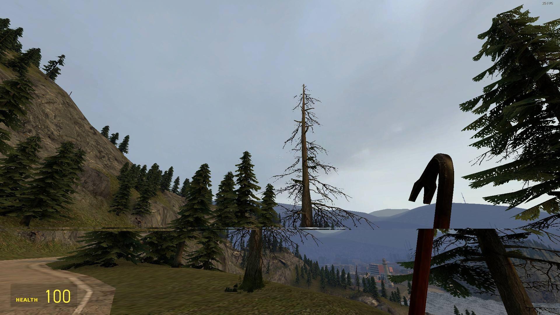 تمزق شاشة Half Life 2