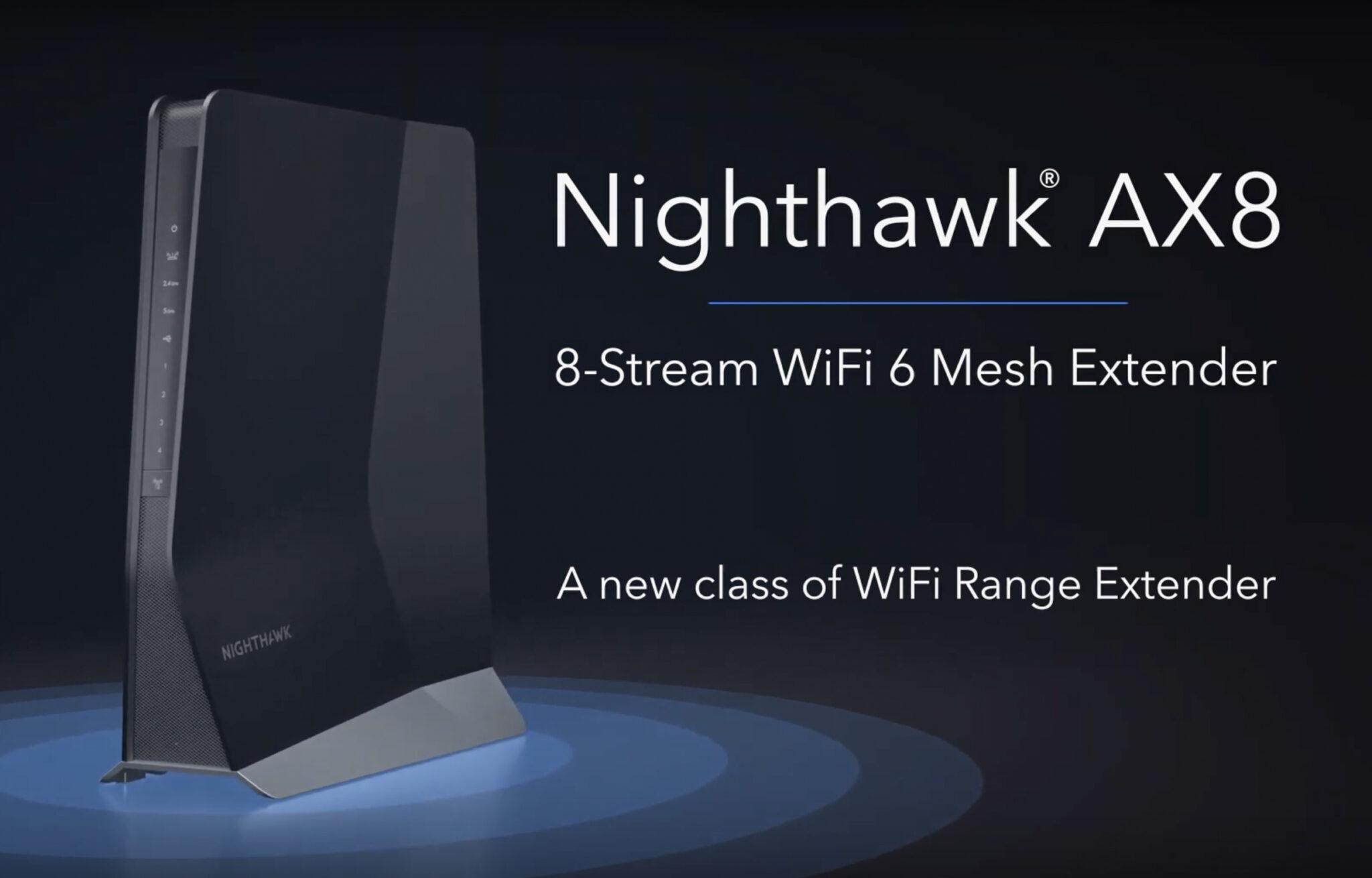 شركة Netgear تعلن عن جهاز Nighthawk EAX80 لتعظيم اشارة شبكة Wi-Fi 6