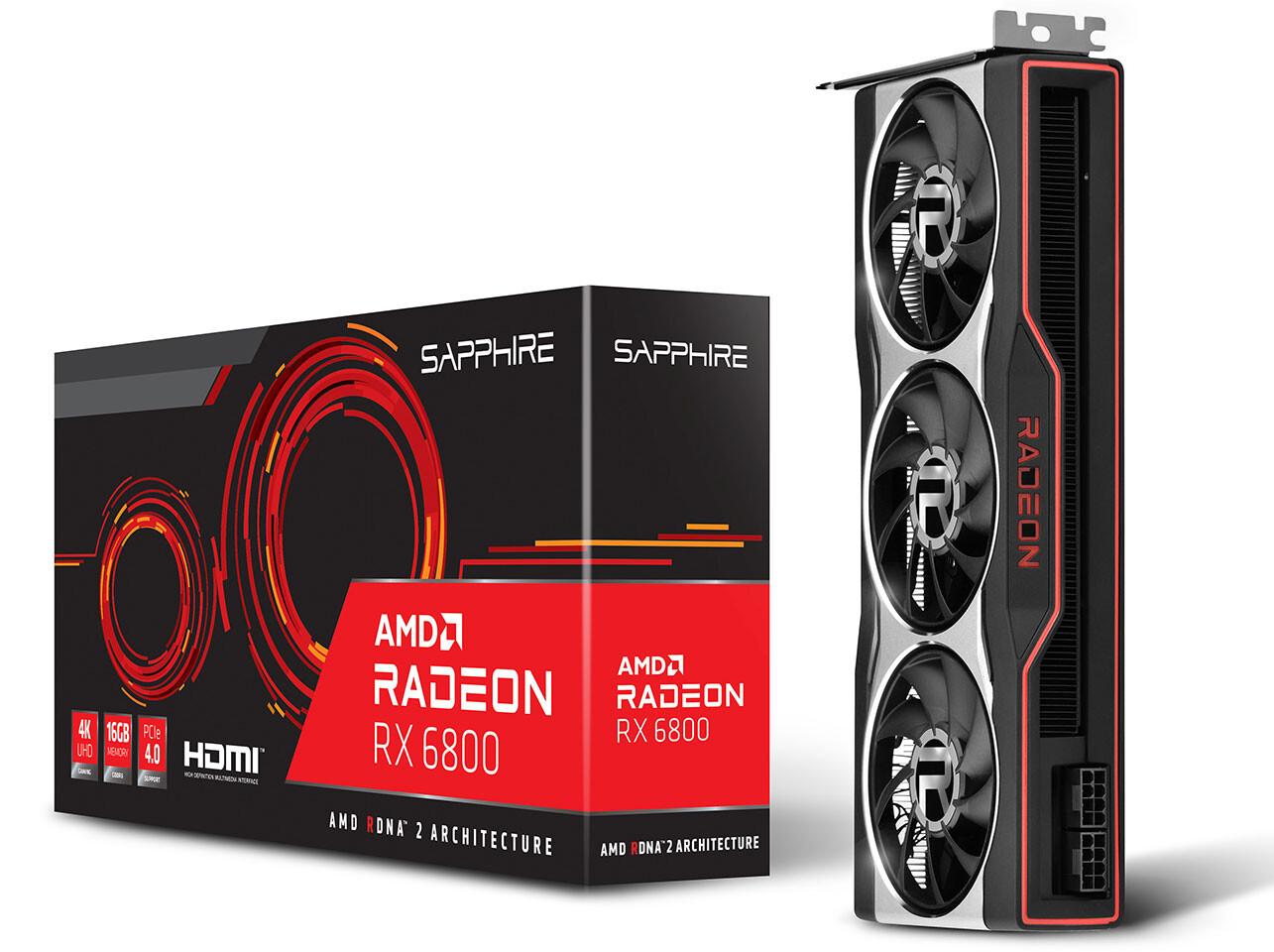 شركة Sapphire تعلن عن بطاقاتها القياسية من سلسلة RX 6000 من شركة AMD