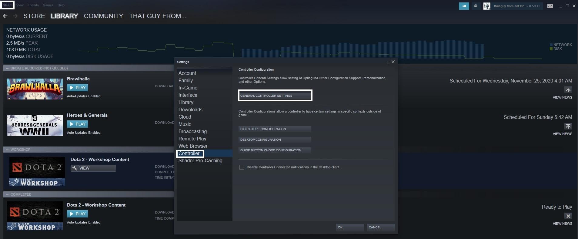 قم بالدخول على منصة Steam.