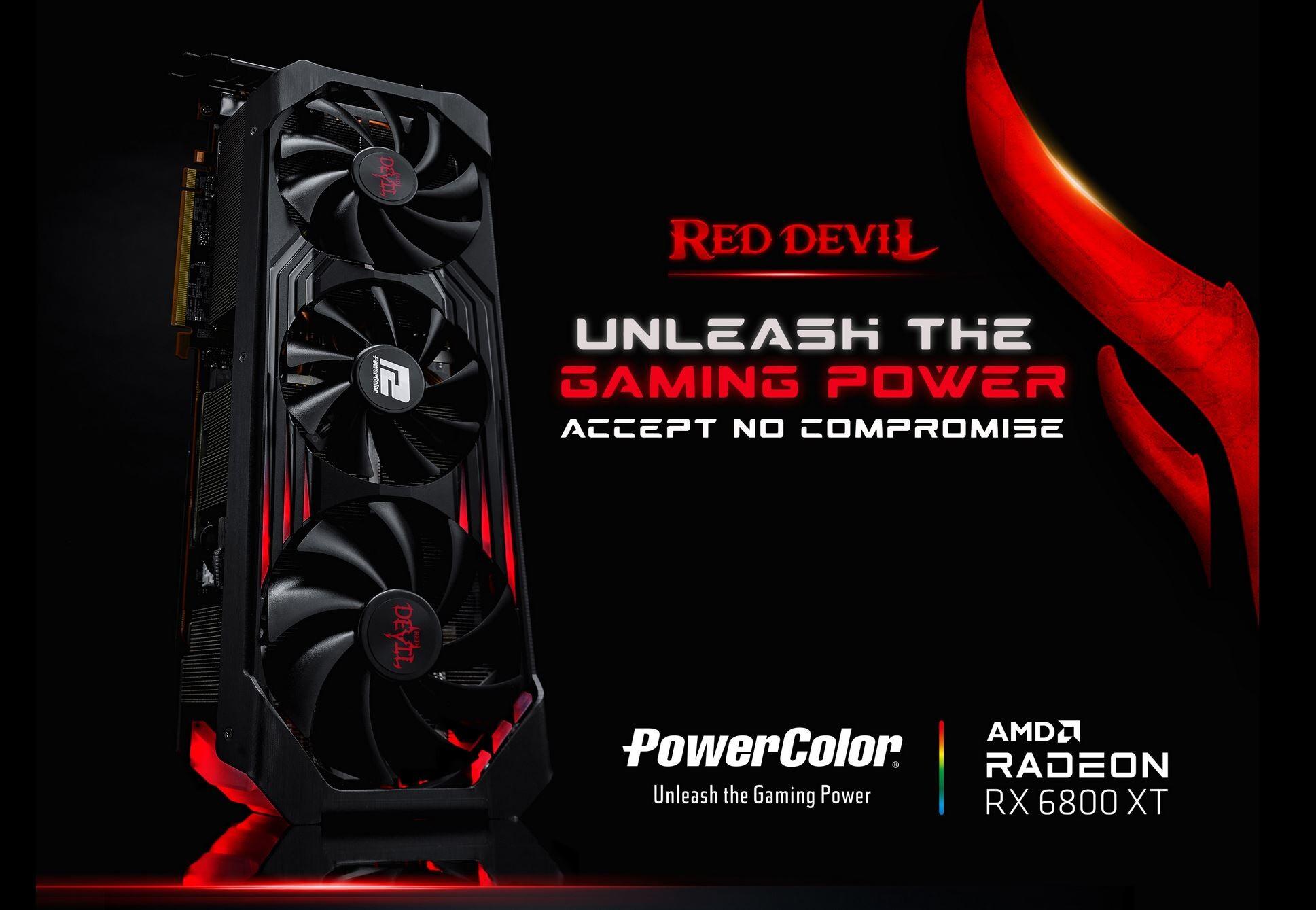 PowerColor تطلق رسمياً بطاقات Red Devil و Red Dragon لسلسلة RX 6800