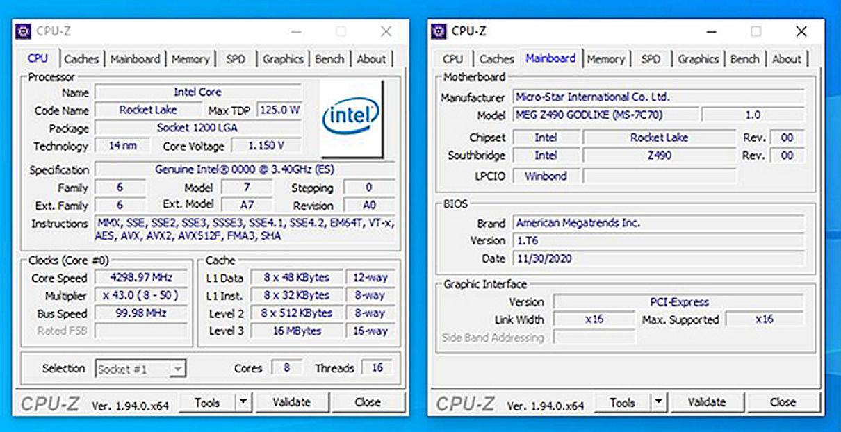 MSI Leaked Intel