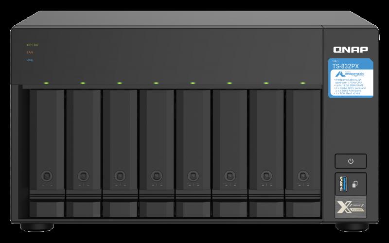 نظرة سريعة على جهاز التخزين الشبكي QNAP TS-832PX