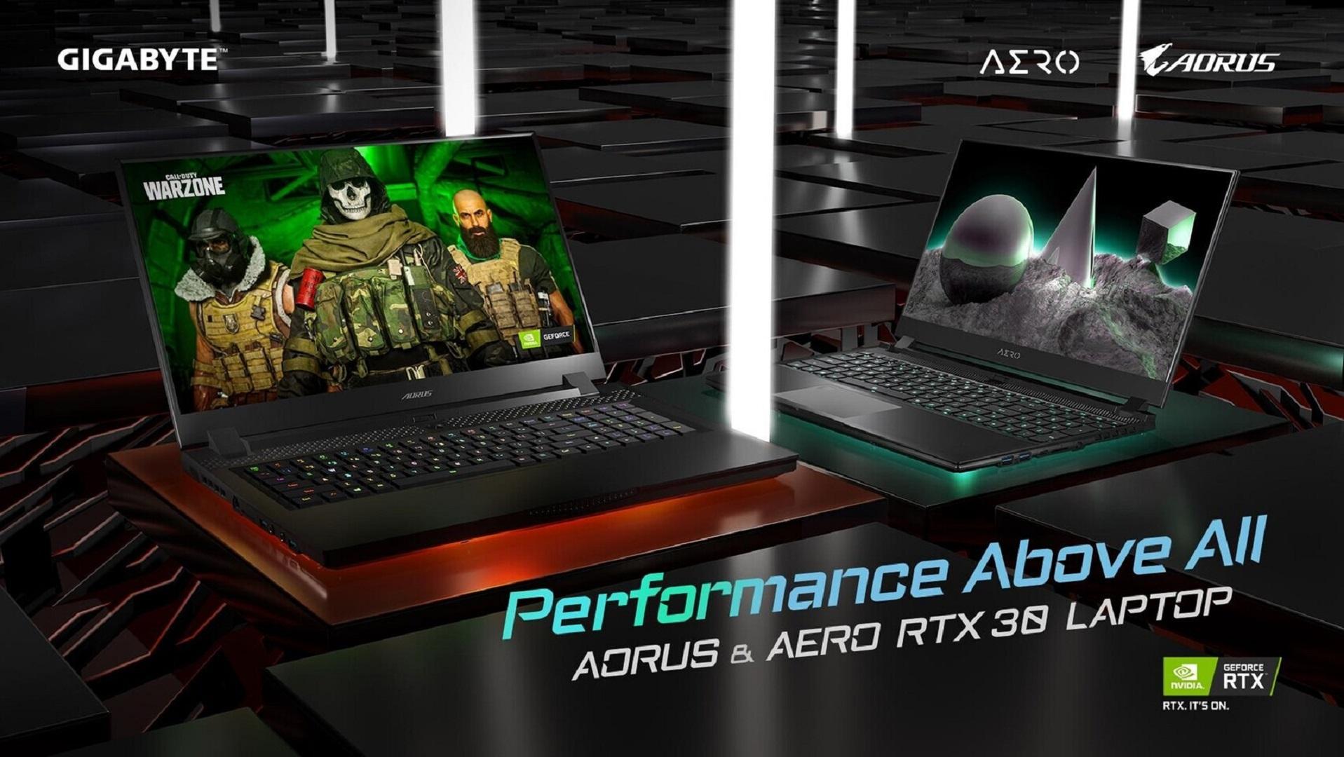 Gigabyte RTX 30 Laptops