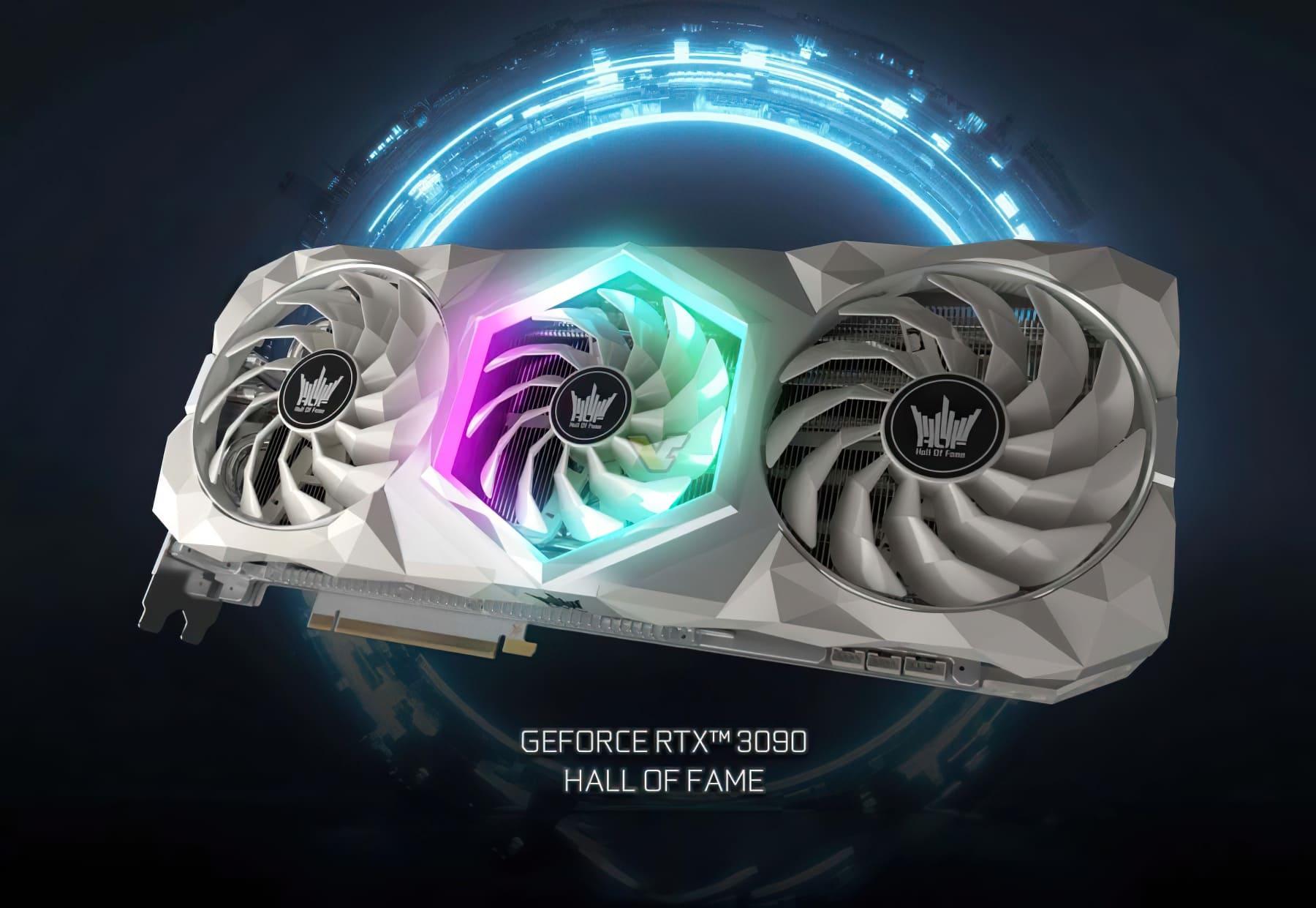 شركة GALAX تستعرض بطاقة GeForce RTX 3090 Hall Of Fame (HOF) الجديدة