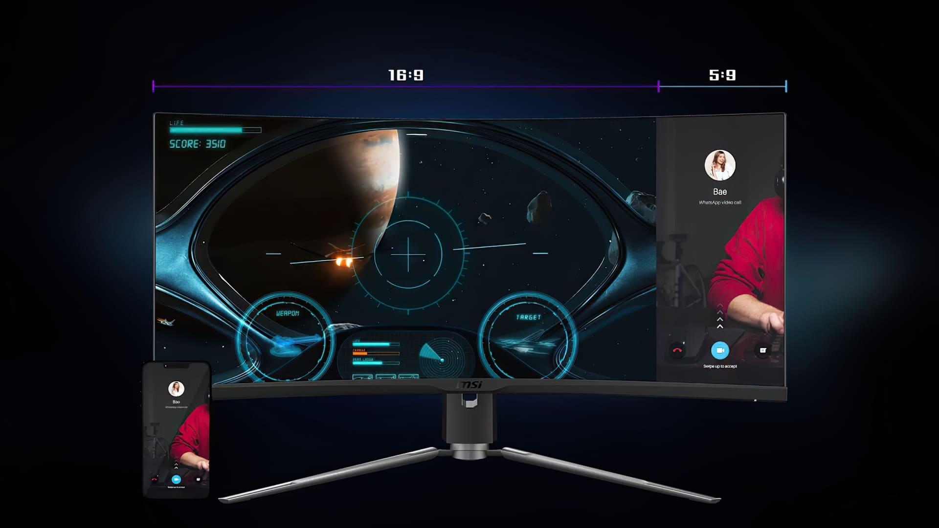 شركة MSI تعلن عن شاشة MPG ARTYMIS 343CQR المميزة مع إنحناء 1000R