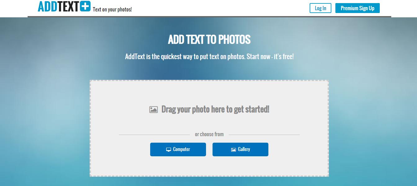 موقع AddTextللكتابة علي الصور