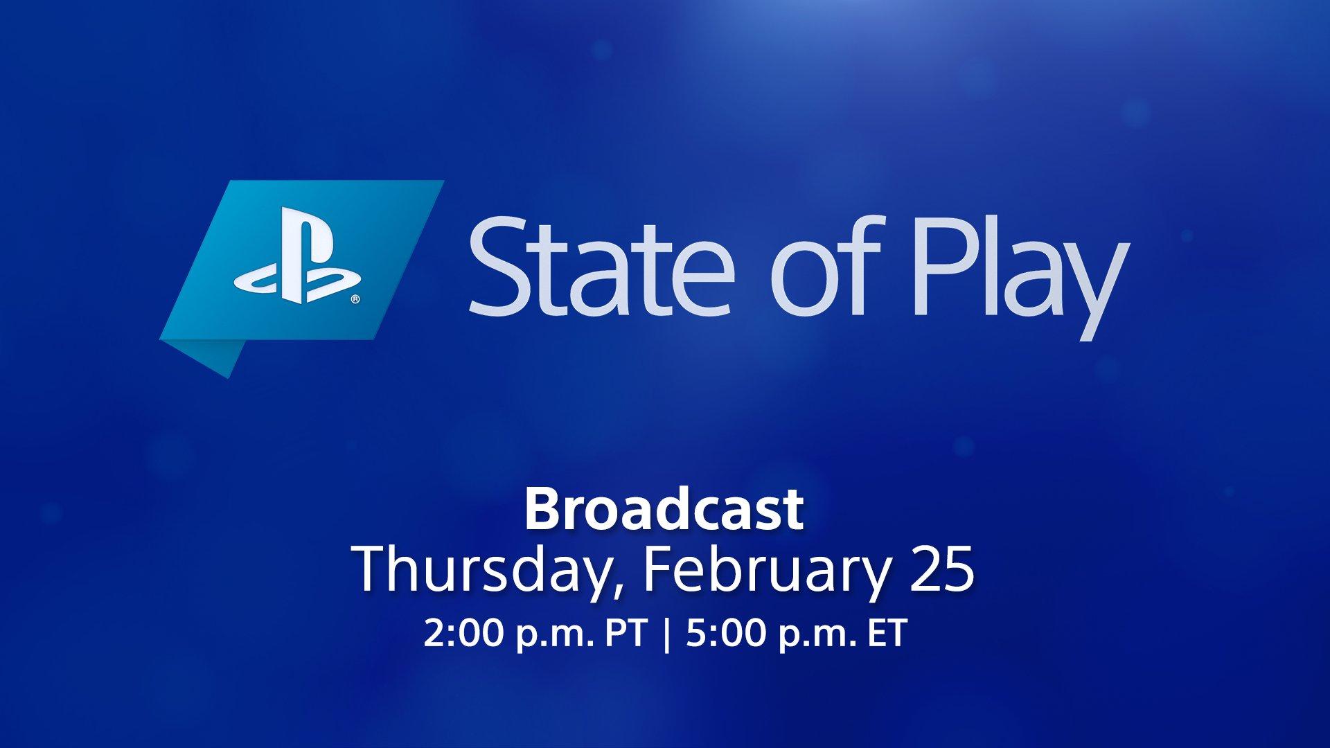 سوني فقرة State of Play فبراير PS4 PS5