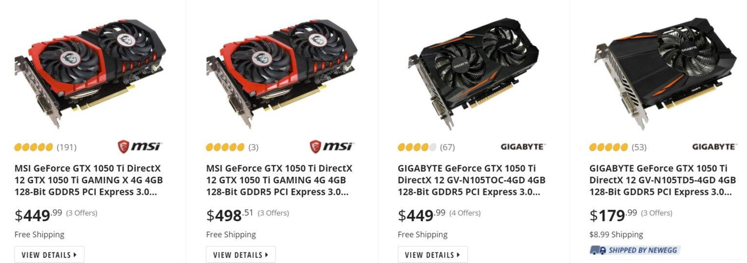 بسبب حالة السوق، إنفيديا تعيد إنتاج وتزويد التجار ببطاقات GTX 1050 Ti