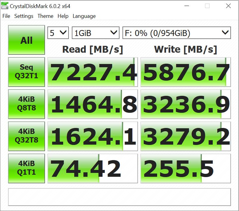 XPG S70 SSD Crystal Results